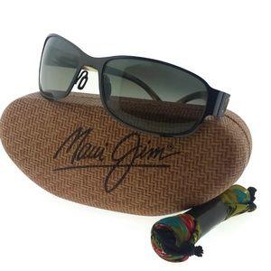 244-02 Black Gunmetal Grey Polarized Sunglasses